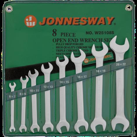 JONNESWAY W25108S Набор ключей рожковых 6-22 мм, 8 предметов