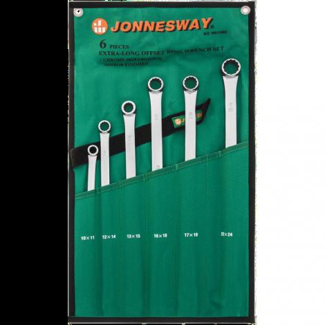 JONNESWAY W61106S Набор накидных ключей CrMo EXTRA LONG 10-24 мм. 6 предметов.