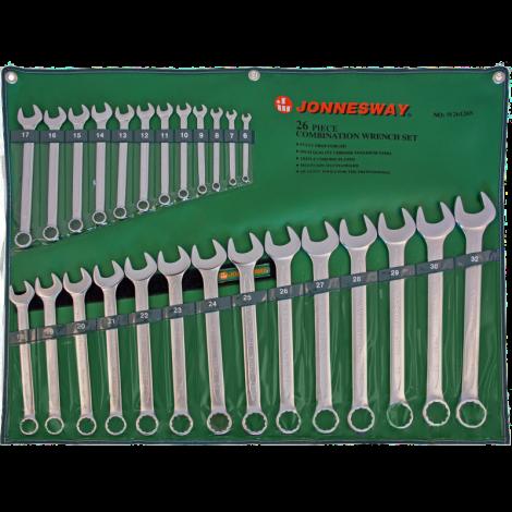JONNESWAY W26126S Набор ключей комбинированных 6-32 мм, 26 предметов