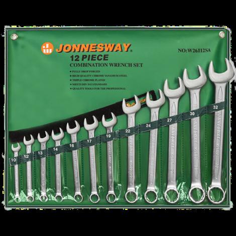 JONNESWAY W26112SA Набор ключей комбинированных, 10-32 мм, 12 предметов