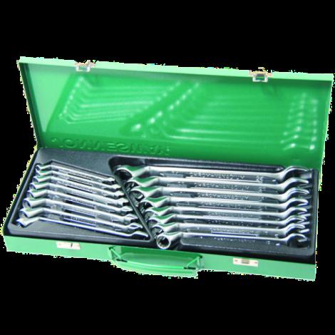 W69116S Набор ключей комбинированных (накидной профиль 75-гр) 7-24 мм, 16 предметов.