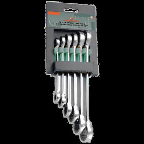 JONNESWAY W68106S Набор накидных трещоточных ключей 8-19 мм 6 предметов