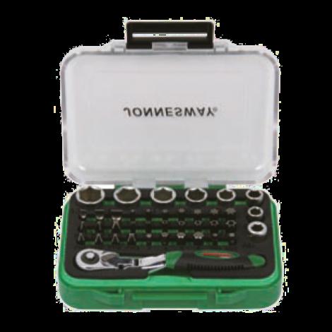 JONNESWAY RD01032S Набор вставок-бит с трещоточной рукояткой мини 1/4