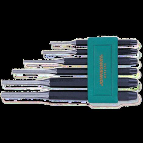 JONNESWAY M63106S Набор выколоток 2х8х115-8х12,7х180 мм, 6 предметов
