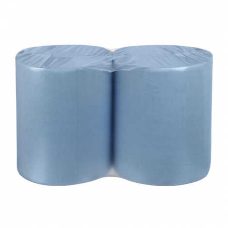 Протирочная бумага 2х-слойная Синяя с теснением 33х35см., уп.2 рулона.