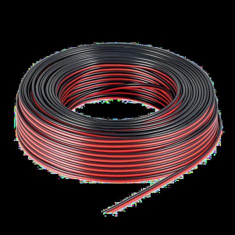 Провод двужильный красно-черный 2х1.0; 100м.