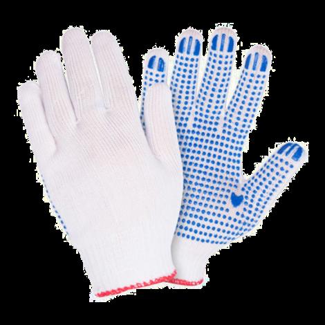 Перчатки ХБ с ПВХ 5нит.10 класс (люкс)