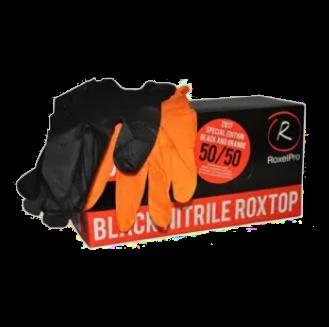 Перчатки Нитриловые уп.100 шт. L Микс черн. / оранж.