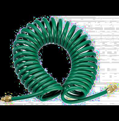 JAZ-7214I Шланг полиуретановый спиральный для пневматического инструмента 8х12 мм, 8 м